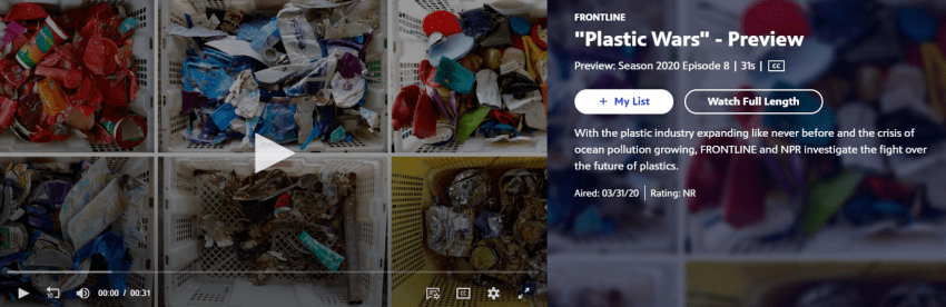 PBS Frontline video- Plastic Wars