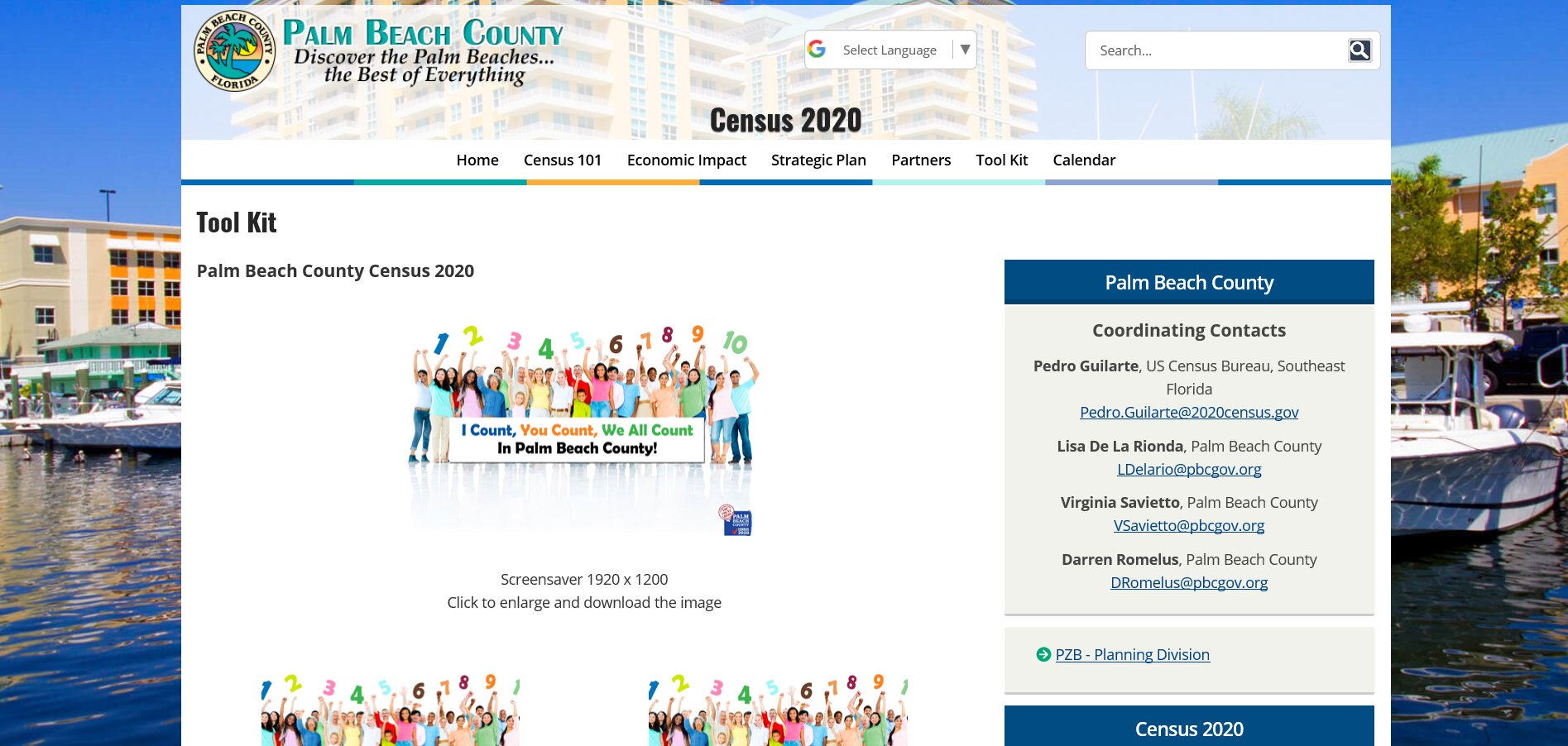 PB County Census Webpage