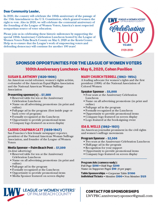 100 Year - Sponsor package