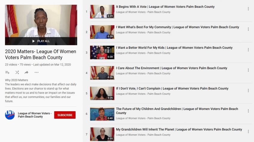 YouTube playlist- 2020 Matters