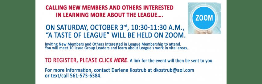 A Taste of League-October
