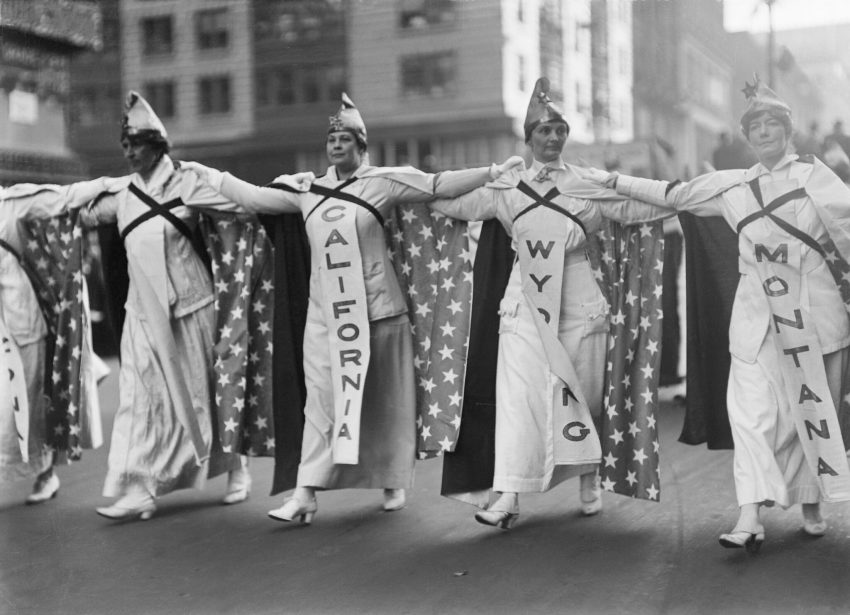 Women marching for the vote in New York in 1915.Credit...Bettmann Archive/Getty Images