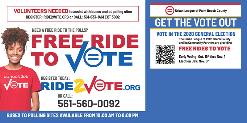 OCT 2020 Free Ride to Vote