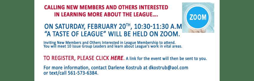 A Taste of League-FEB2021