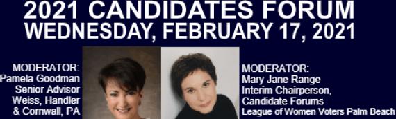 2021 Candidate Forum – Boca Raton