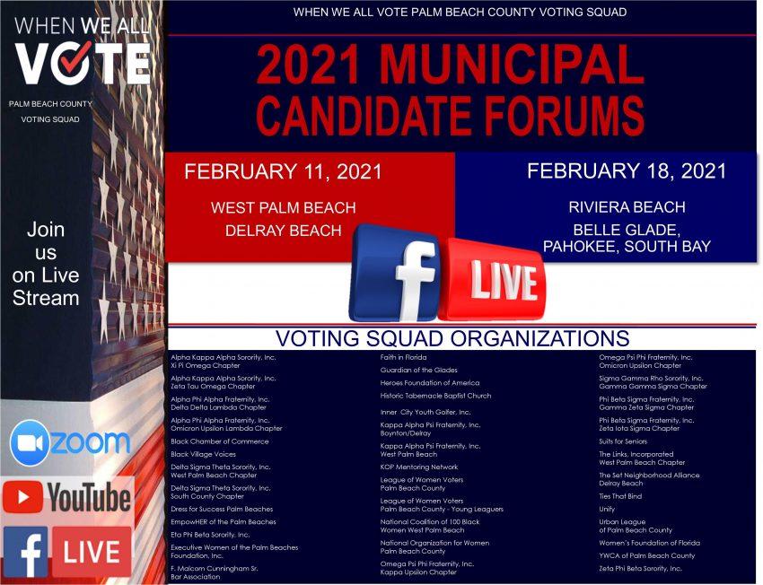 2021 Municipal Candidate Forums