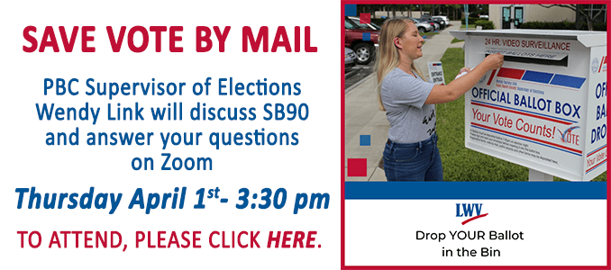 Save Vote By Mail event